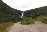 Myklebust_117_07192019 - Fork in the road where the left side went down to the other side of the dam while the right side continued onwards to the brink of Sanddalsfossen and ultimately to Sanddalsstøylen