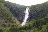 Myklebust_130_07192019 - Frontal view from a distance of Sanddalsfossen from a fork along the Sanddalstoylen Trail