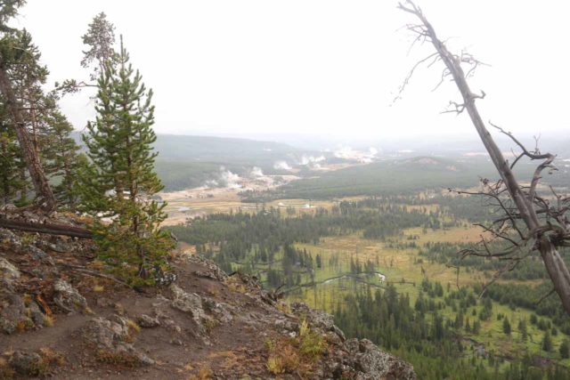 Mystic_Falls_17_080_08142017 - Although it wasn't necessary to go up to the Biscuit Basin Overlook if the goal was to just visit Mystic Falls, it did provide a commanding view of both the Biscuit and Upper Geyser Basins