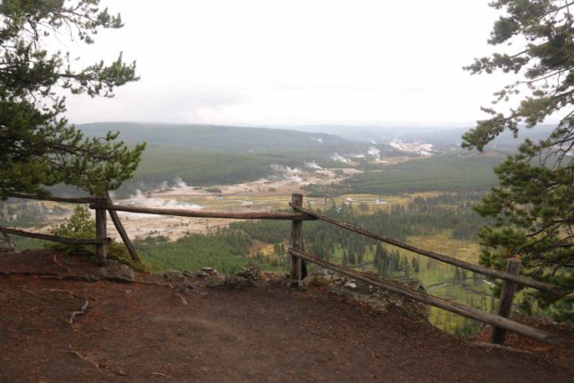 Mystic_Falls_17_087_08142017 - Looking over the Biscuit Basin and towards the Upper Geyser Basin in the distance from the Biscuit Basin Overlook