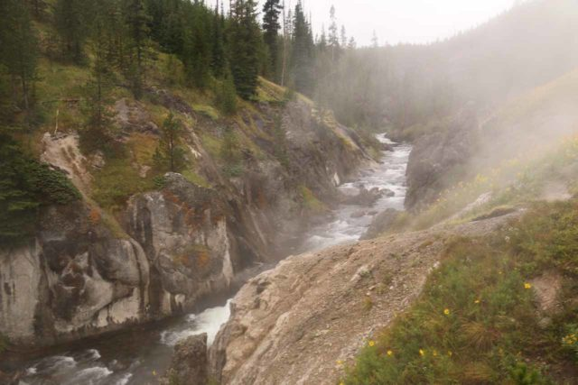 Mystic_Falls_17_107_08142017 - Looking upstream from the top of Mystic Falls towards thermal springs feeding the Little Firehole River