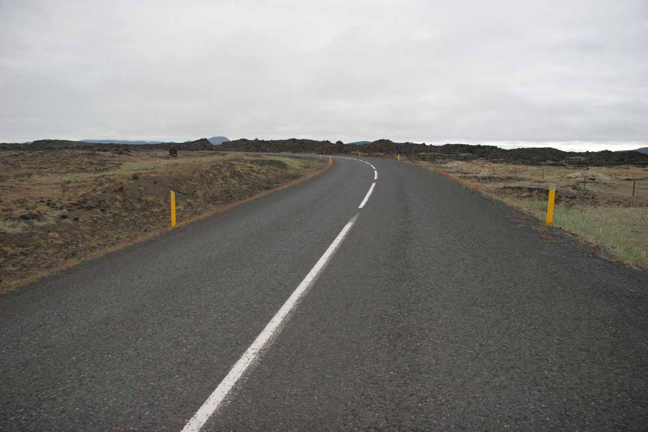 The road to Mývatn