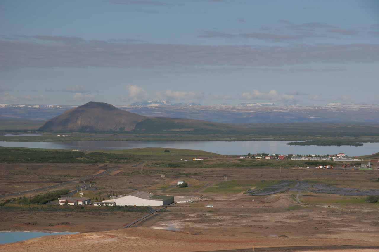 The nearest town of any appreciable size to Selfoss was Reykjalið on the eastern shores of Mývatn