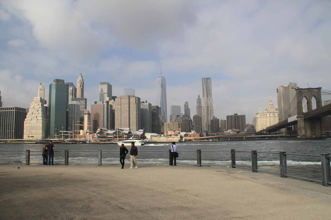 The New York Skyline with the sun coming out