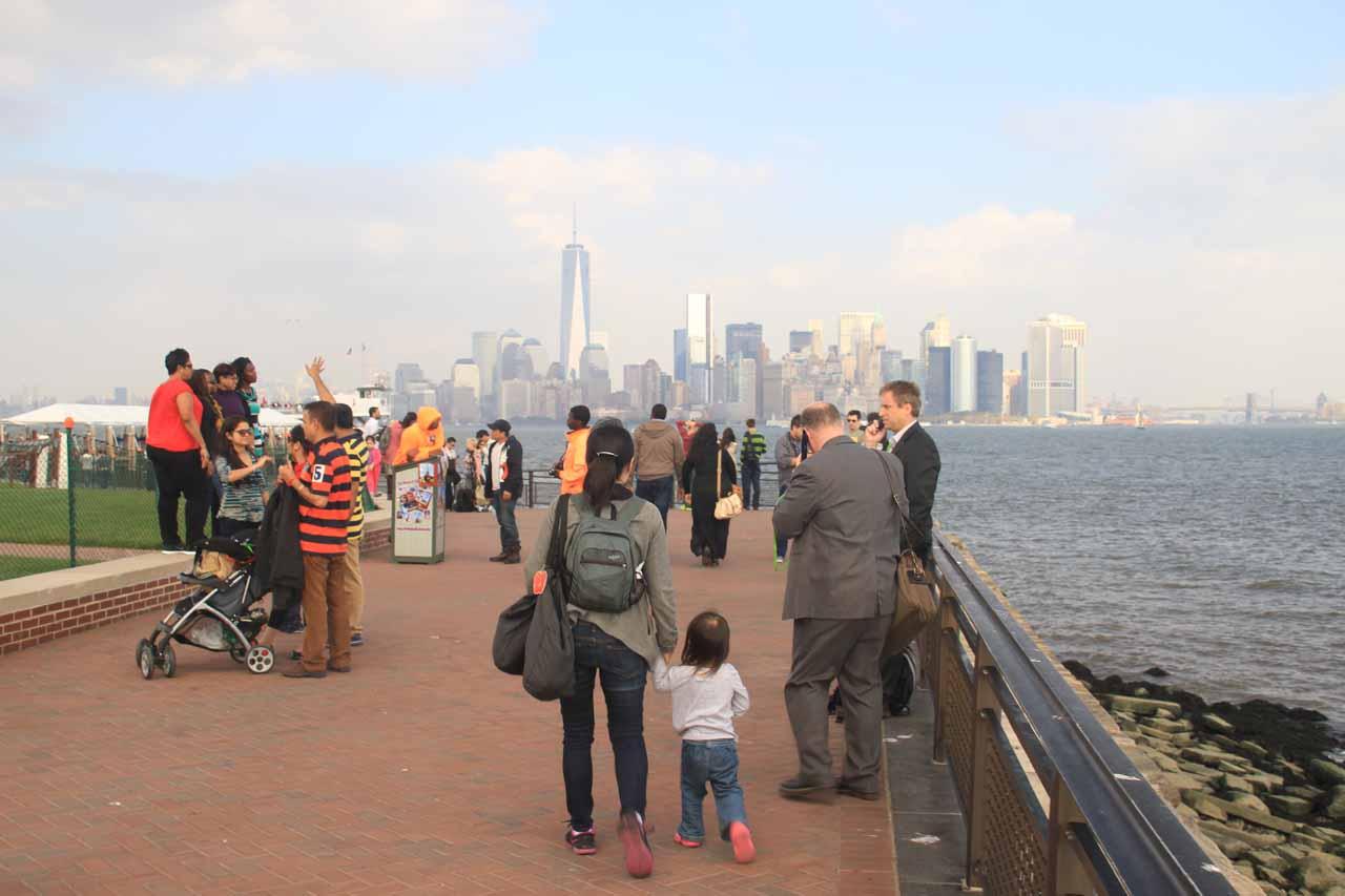Julie and Tahia on Ellis Island