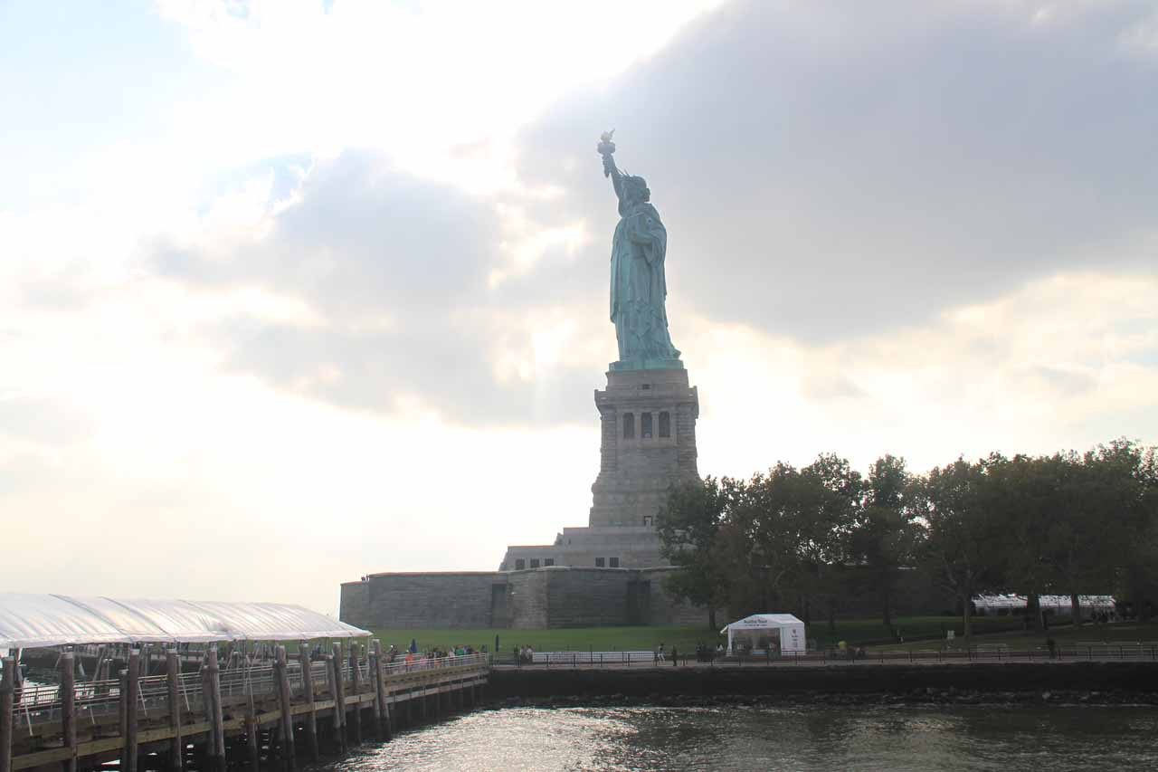 Last look at the Statue of Liberty