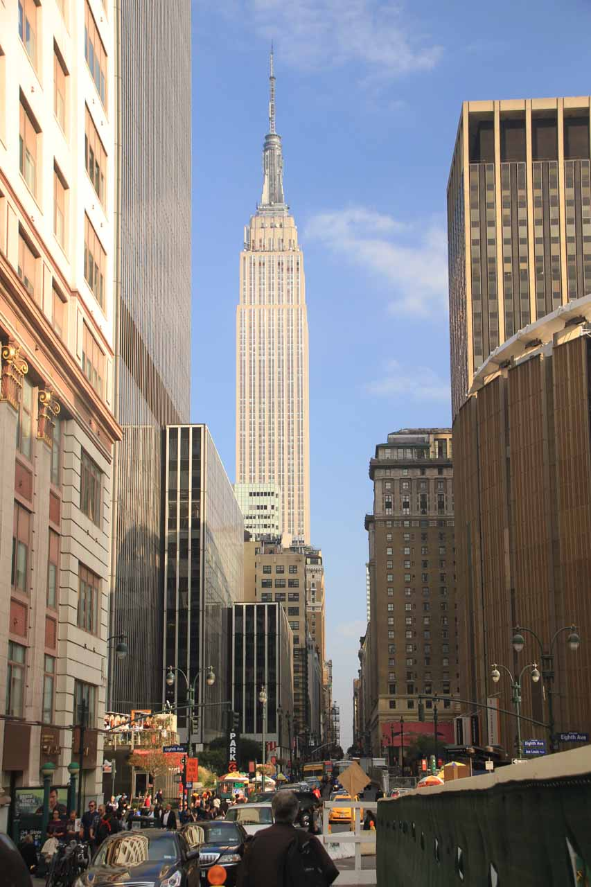 Looking back at the Empire State Building from Madison Square Garden