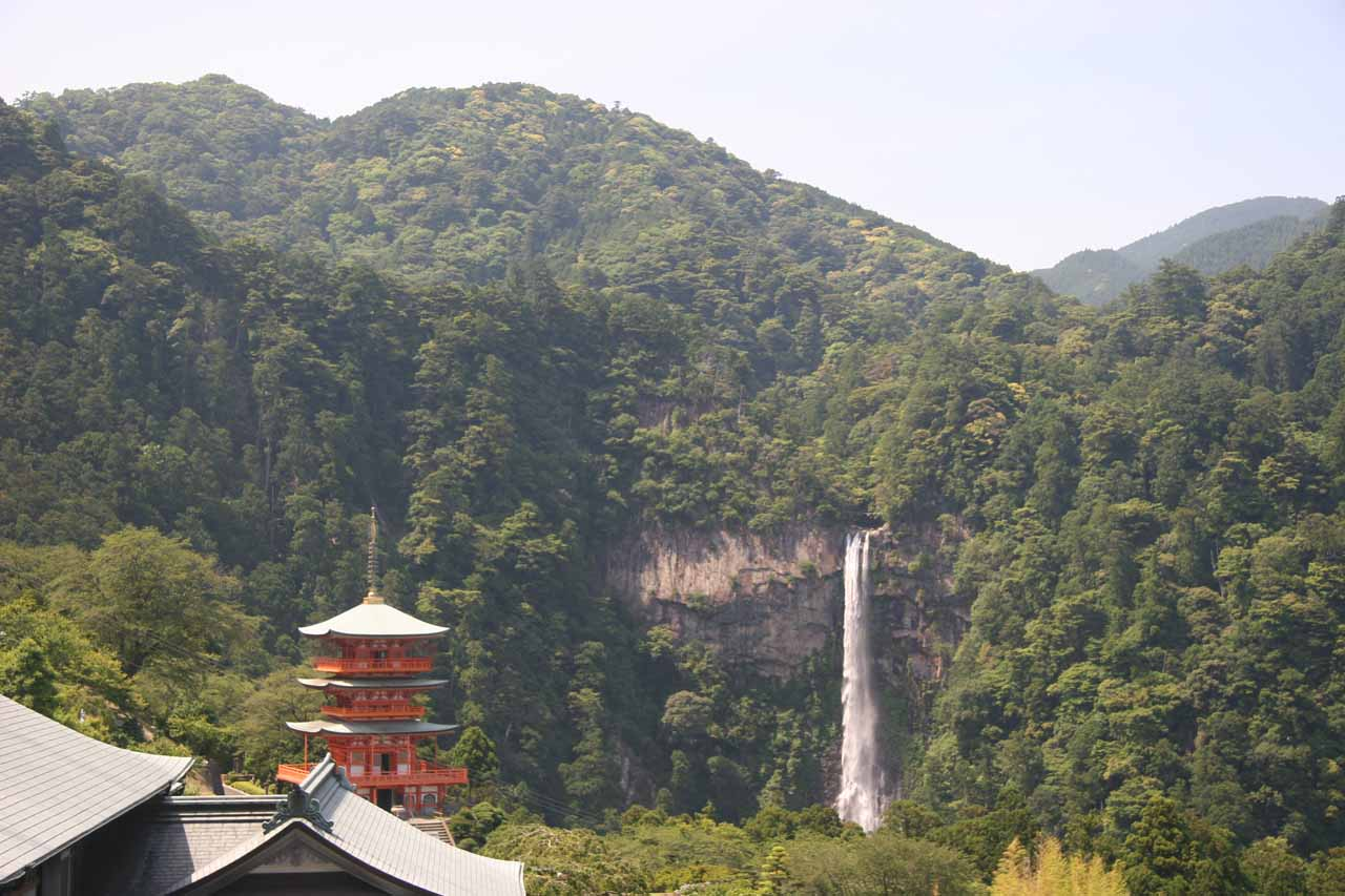 Nachi Waterfall and pagoda