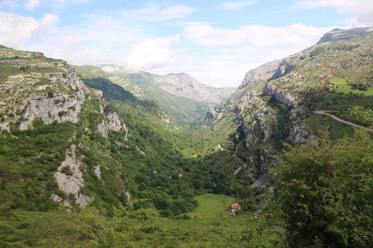 Nearby the Cascada del Río Gándara was the head of the Valle de Asón (shown here), which was also where the birth of the Asón River was located as well