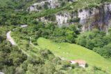 Nacimiento_del_Rio_Ason_036_06142015 - Looking down at the farm and the road along with Nacimiento del Rio Ason