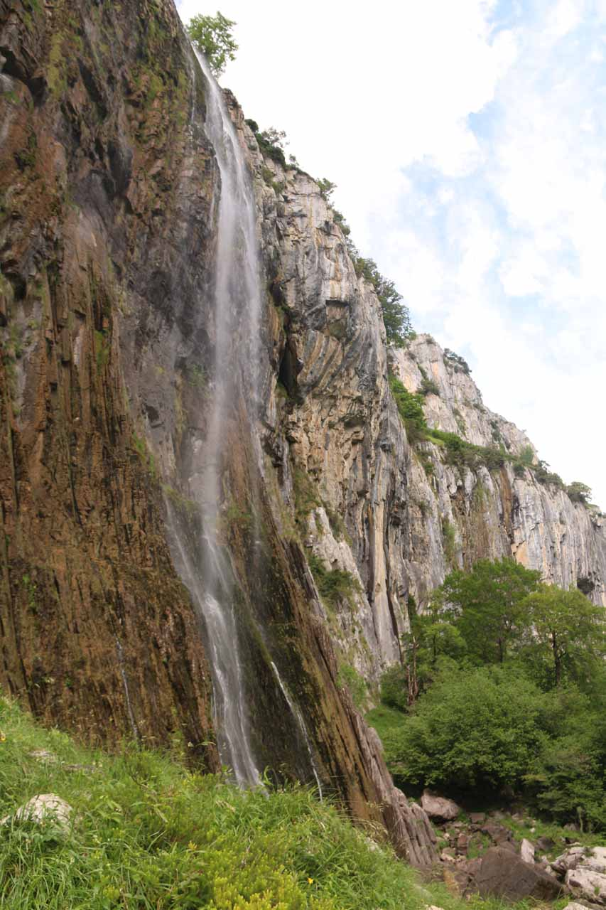 At the base of the Nacimiento del Rio Ason