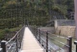 Naena_Falls_011_10182016 - Crossing the first suspension bridge above the Sekigawa River en route to the Naena Falls