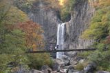 Naena_Falls_046_10182016 - Broad look at the Naena Waterfall fronted by an attractive suspension bridge