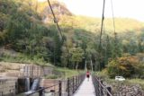 Naena_Falls_152_10182016 - Mom going back across the first suspension bridge over the Sekigawa as we were getting close to the car park