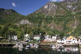 Naeroyfjoren_Cruise_010_07232019 - Looking towards the town of Flåm as we started to cruise into both the Aurlandsfjord and the Nærøyfjord