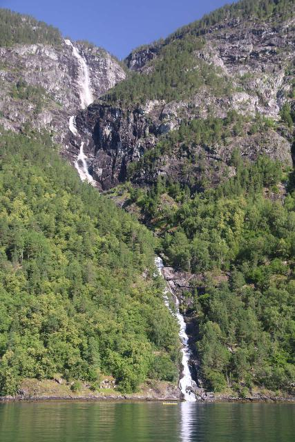 Naeroyfjoren_Cruise_235_07242019 - Looking at the full height of the Lægdafossen waterfall, which was perhaps the largest one in Nærøyfjorden