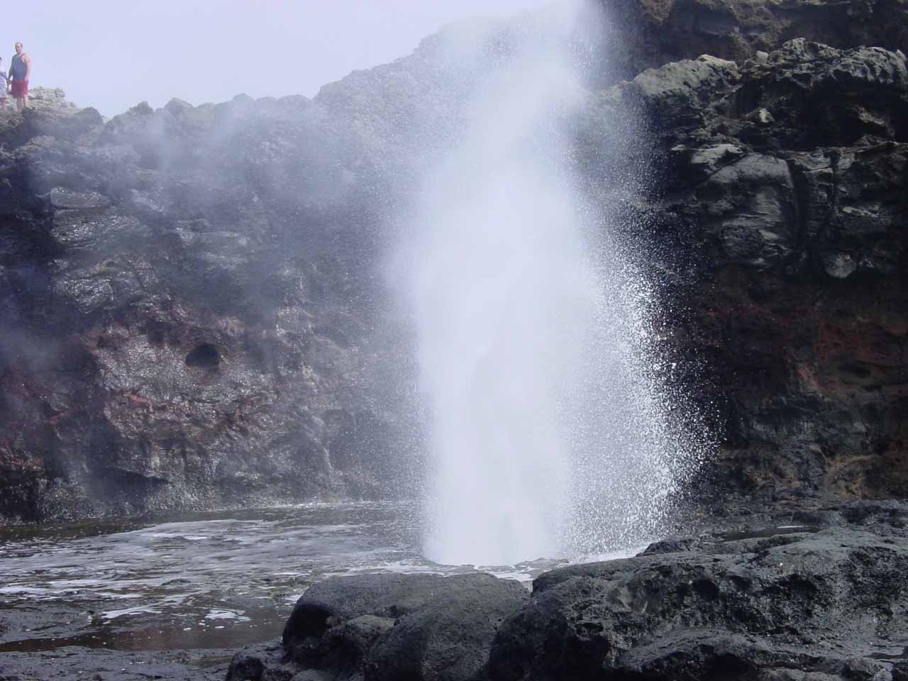 The day we first visited Lower Makamakaole Falls was part of a day where we drove around West Maui, which included a stop at the Nakalele Blowhole