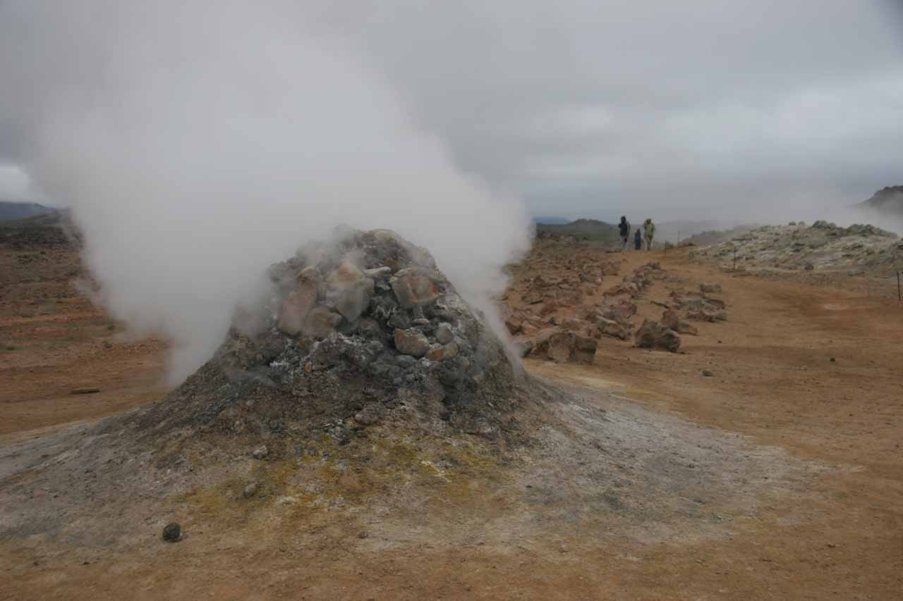 A short distance further to the east of Mývatn was the geothermal features of Namafjall