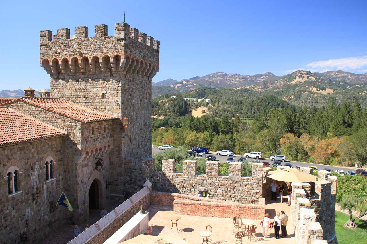 Roughly 2 hours drive to the north of Mt Tamalpais Watershed was Napa Valley, which featured vineyards like the Italian-inspired Castello di Amorosa