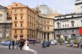 Naples_063_20130518 - Looking back towards the Teatro San Carlo with some couple taking wedding photos in the street