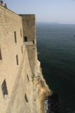 Naples_115_20130518 - Looking along the castle walls which drop right down to the sea