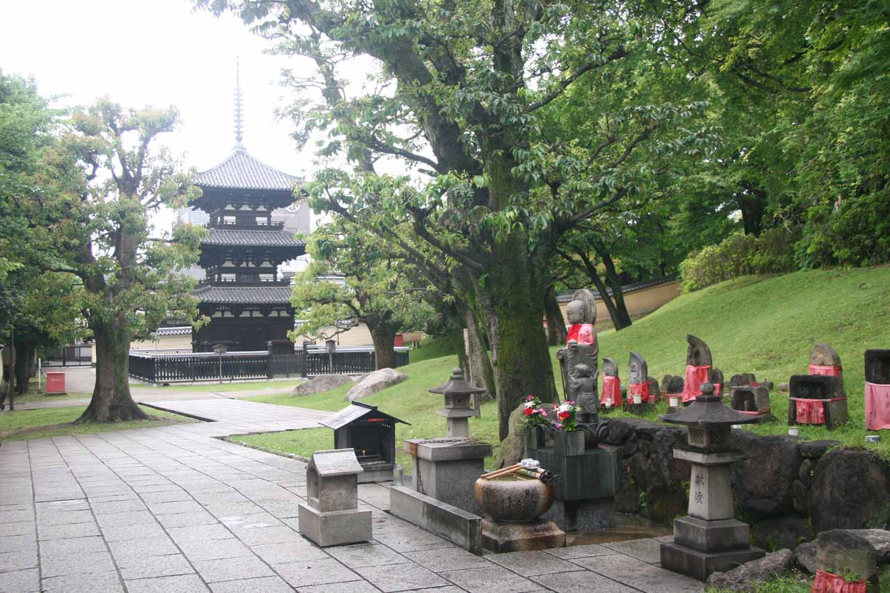 3-story pagoda and small shrine
