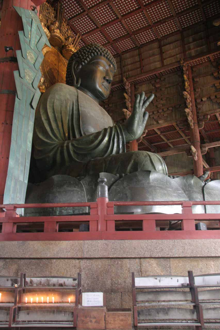 The Buddha inside Todai-ji