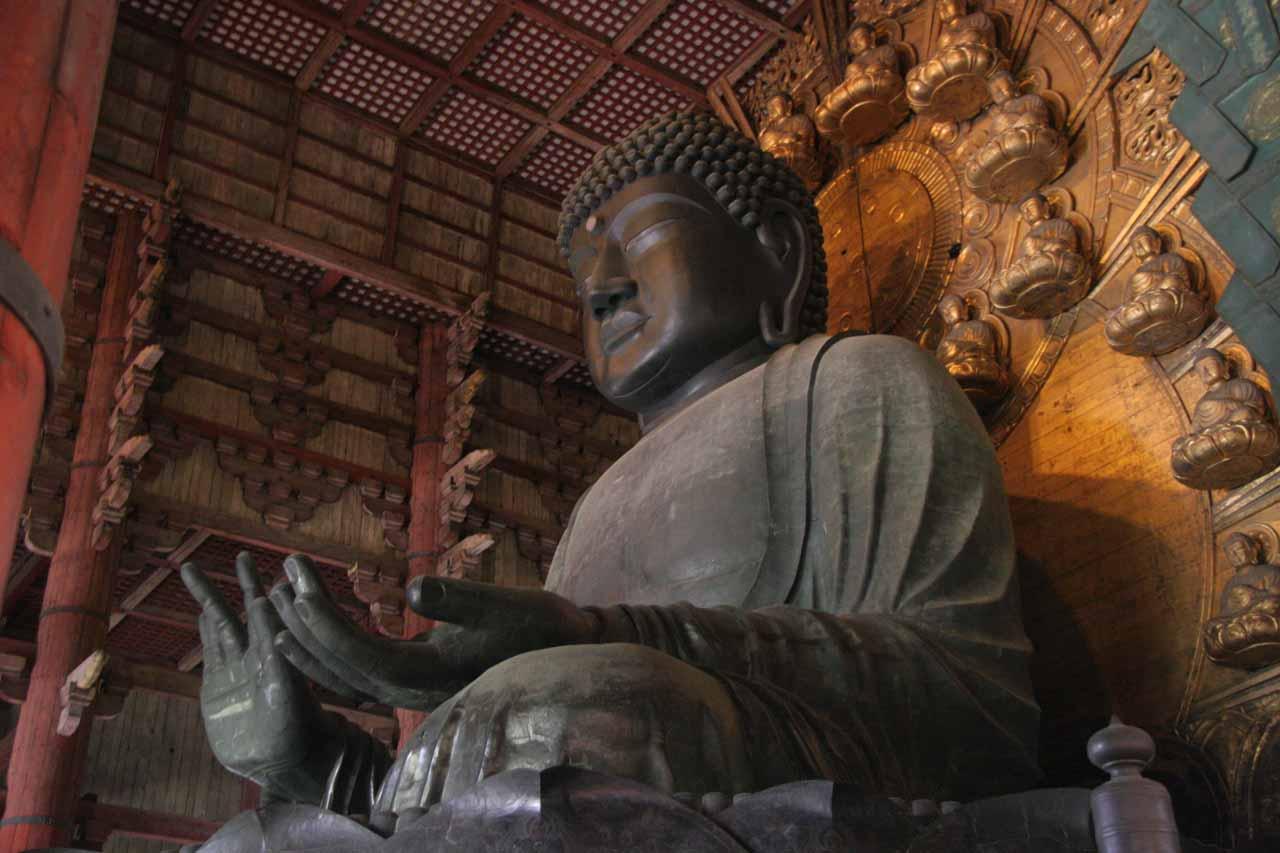Buddha inside the Todai-ji