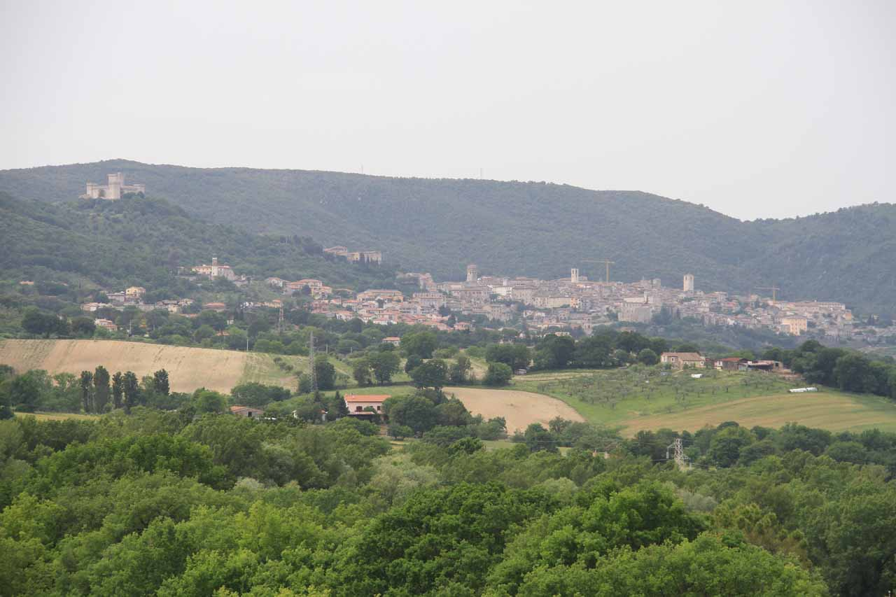 Distant view towards the town of Narni (or Narnia in Latin, which might sound familiar to the Chronicles of Narnia fans)