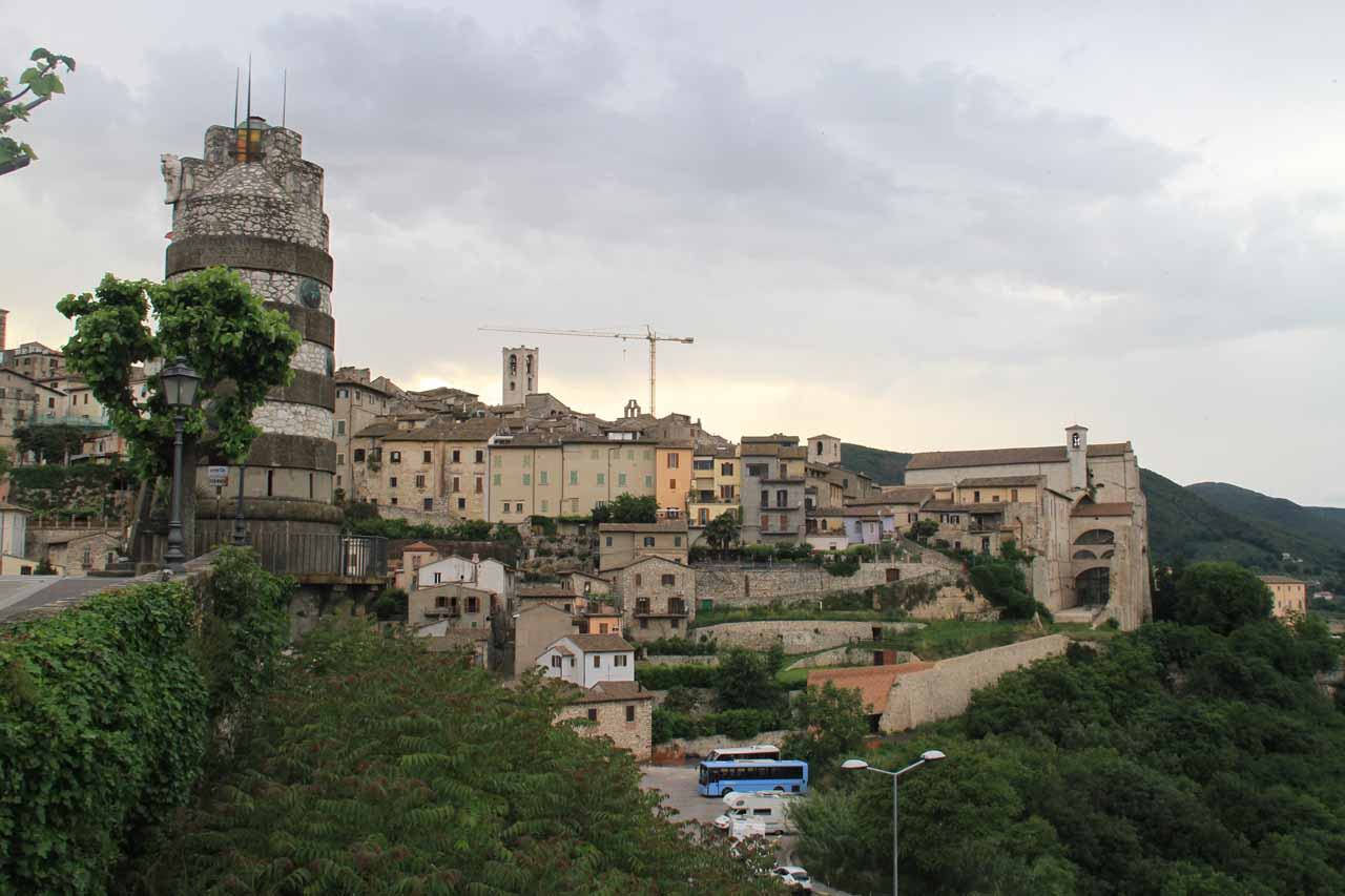 Walking around the town of Narni