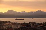 Narvik_059_07072019 - Looking against orange skies over the city of Narvik and the Ofotfjorden