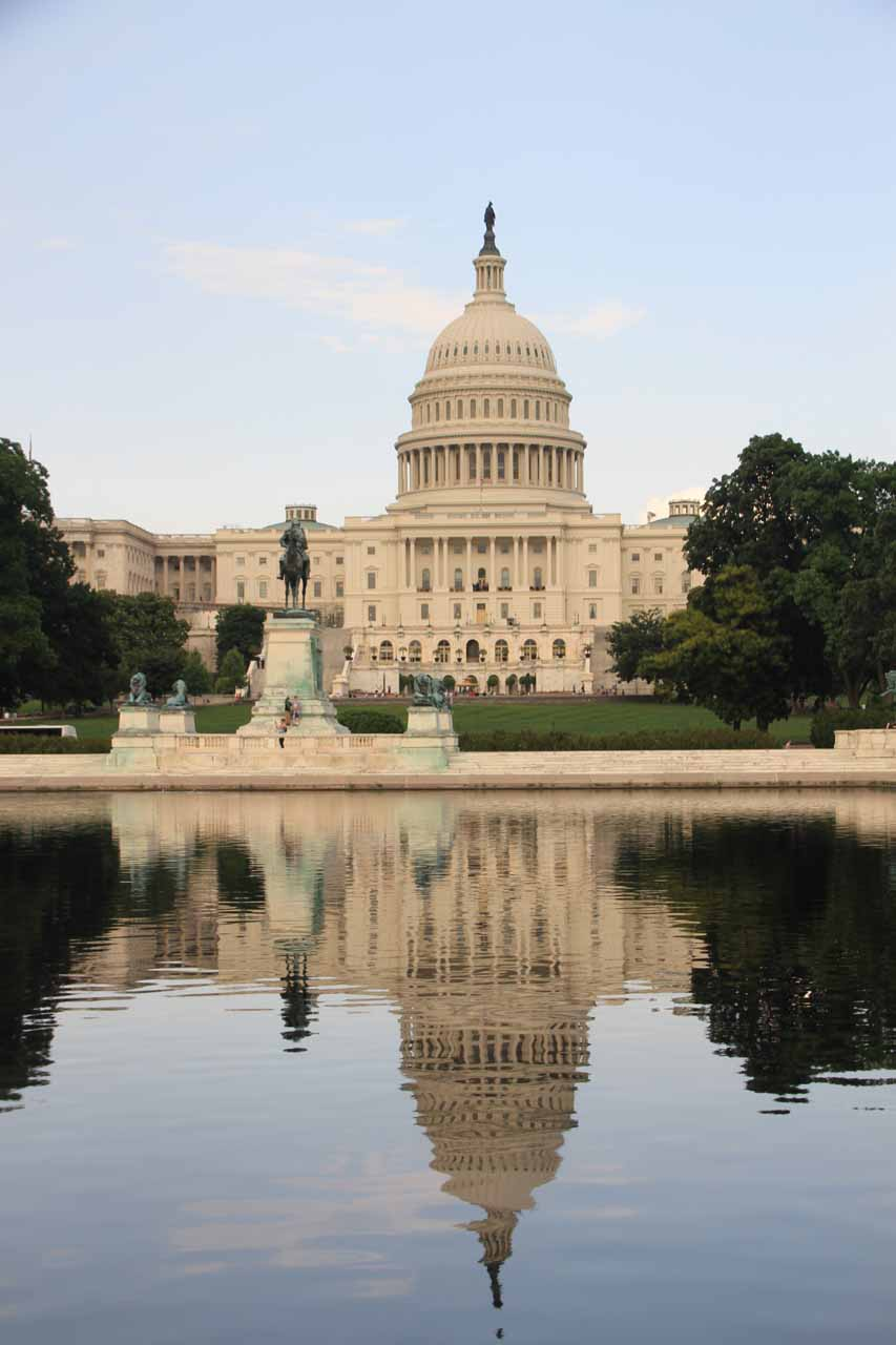 The Capitol Building reflected in the Reflecting Pool