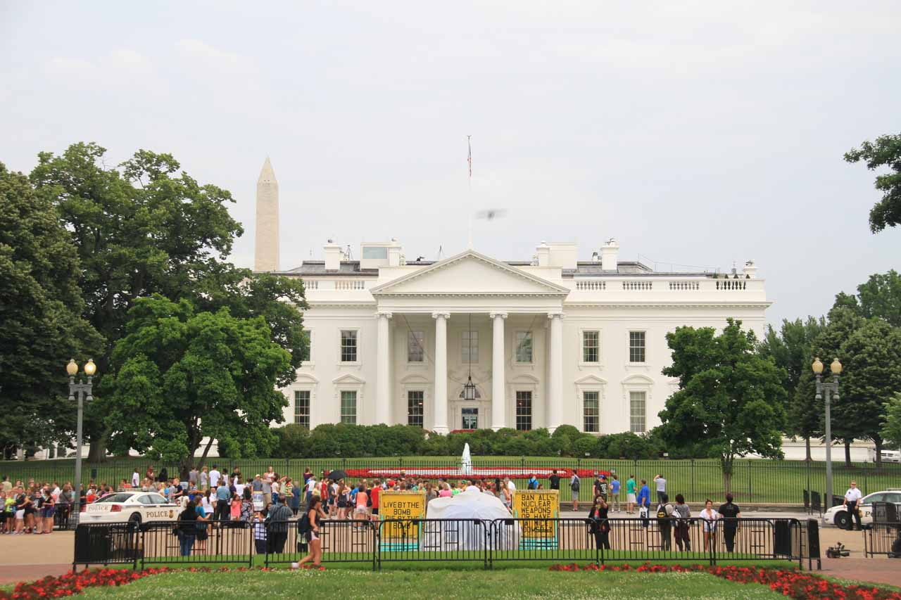 The backside of the White House