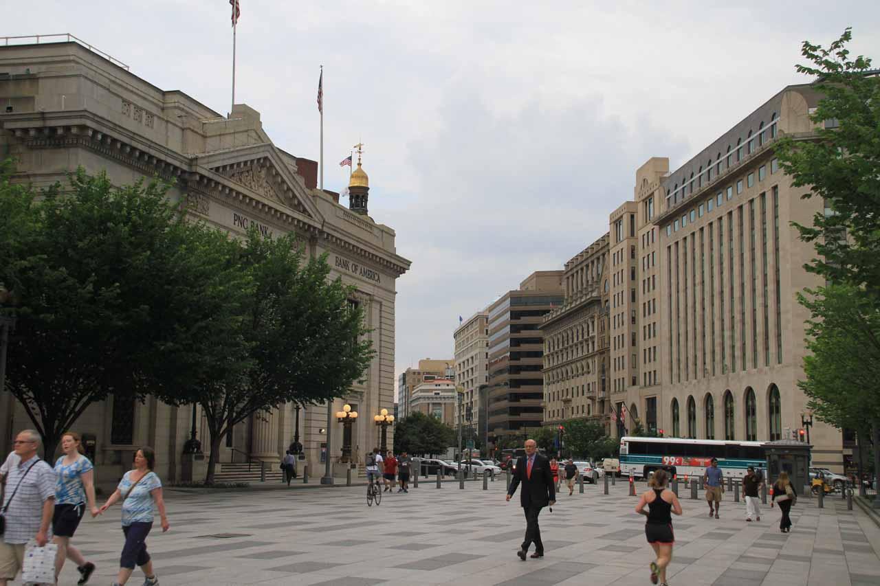 The pedestrian-friendly part of Pennsylvania Avenue
