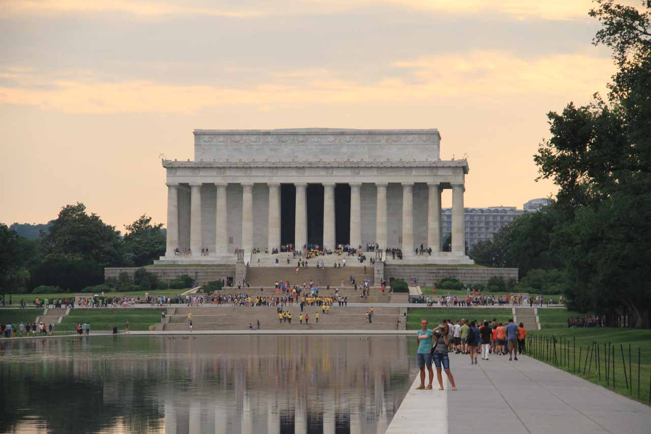 Making my way towards the Lincoln Memorial