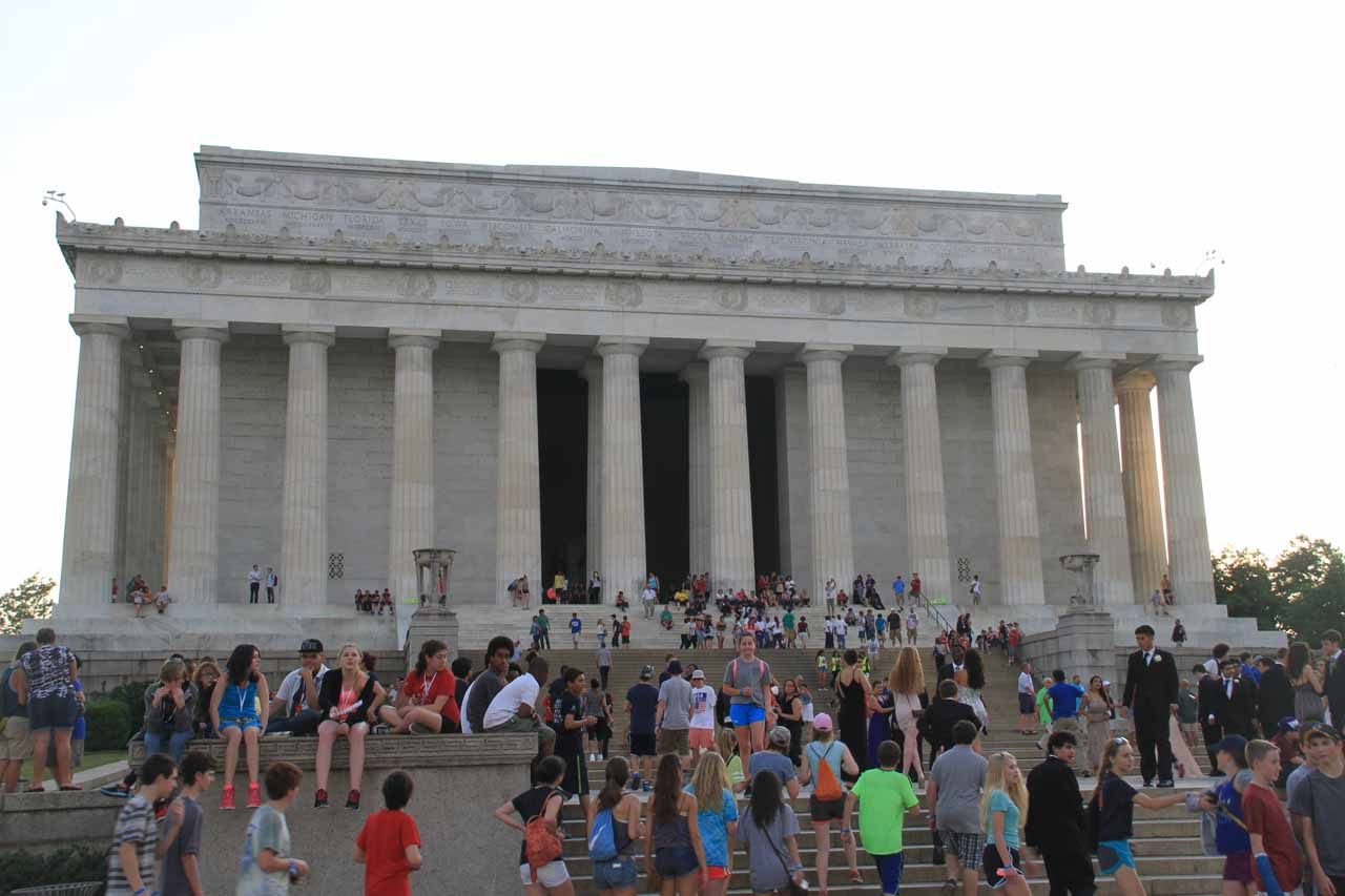 Looking back at the Lincoln Memorial after having my fill of it