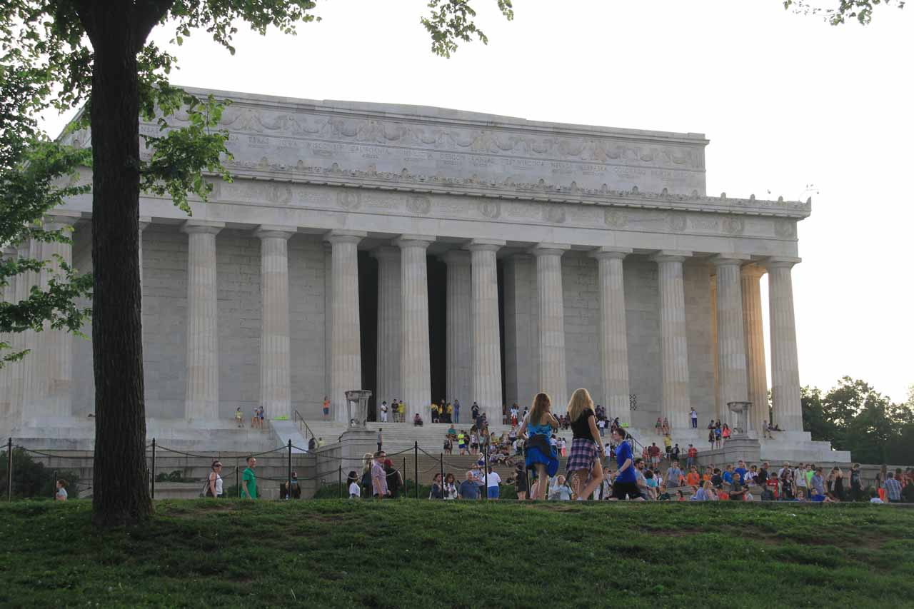 Another look back at the Lincoln Memorial as I was walking further away from it