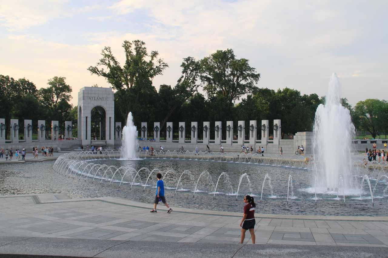 Back at the World War II fountain