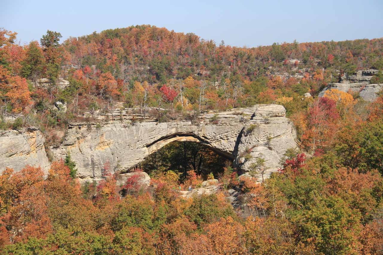 Further to the west of Cumberland Falls, we visited the Natural Arch of Kentucky, which was surrounded by gorgeous Autumn colors making the experience that much more memorable