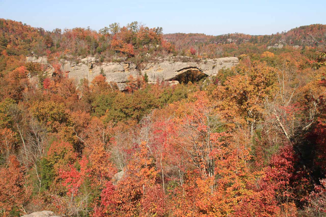 Fall colors and the Natural Arch of Kentucky