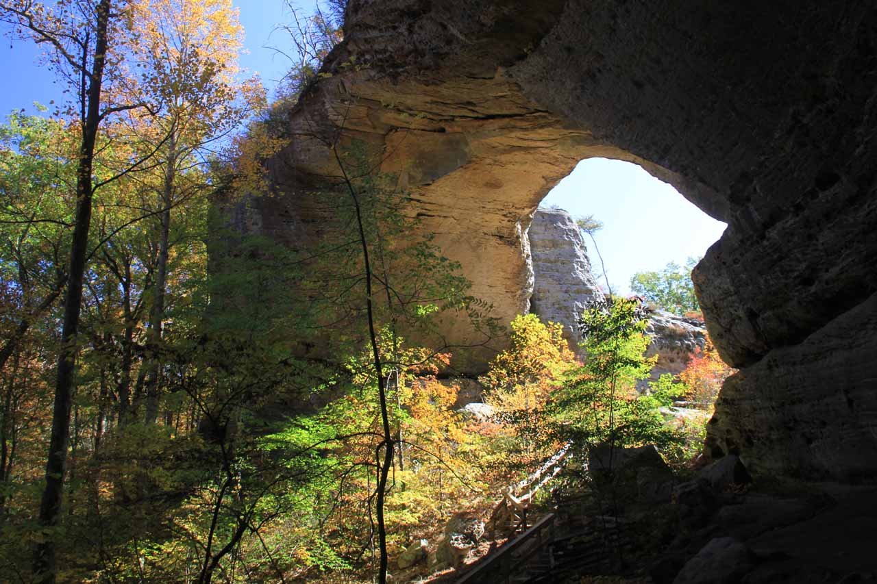 On the same day we visited Eagle Falls, we had also visited the Natural Arch of Kentucky, which was around an hour or so further to the west
