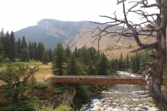 Natural_Bridge_Falls_083_08092017 - The bridge traversing the Boulder River and eventually leading to the frontal overlook of the Natural Bridge Falls