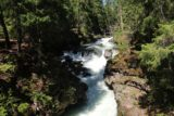 Natural_Bridge_rogue_008_07152016 - Looking upstream along the Rogue River at a few tiers of cascades and rapids from the footbridge