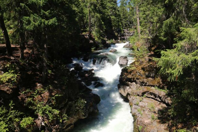 Natural_Bridge_rogue_008_07152016 - Looking upstream at one of the cascades on the Rogue River just downstream from the Natural Bridge