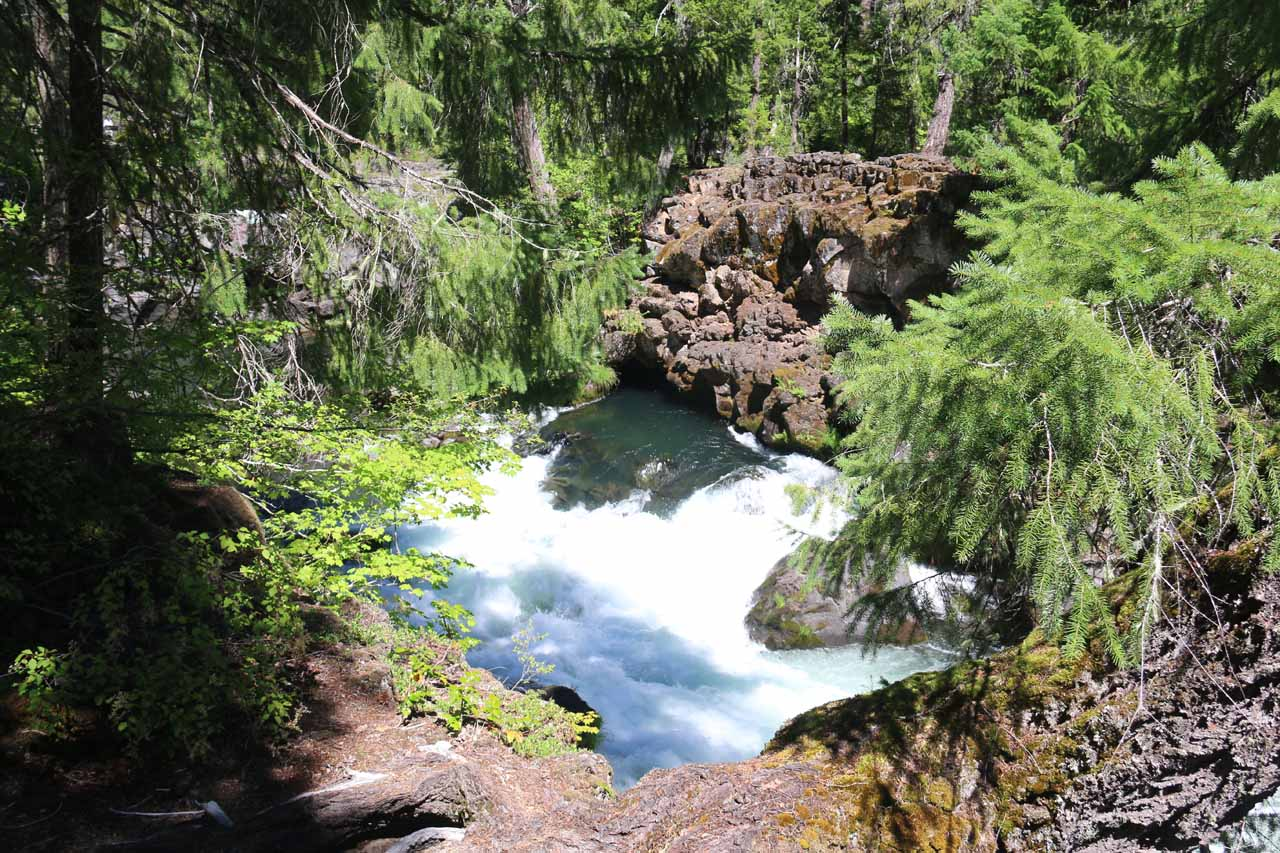 This other cave was another spot where the Rogue River re-emerged from the lava tubes
