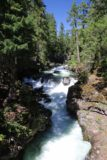 Natural_Bridge_rogue_045_07152016 - One last look upstream at the raging Rogue River and its waterfalls and rapids