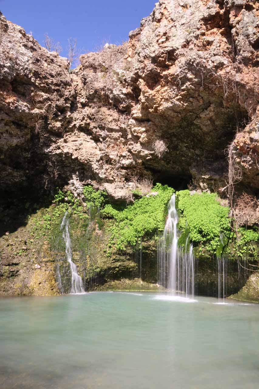 Natural Falls (dry) and Dripping Springs