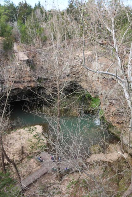 Natural_Falls_SP_095_03172016 - Partial view of the Natural Falls and Dripping Springs from the bridge spanning the canyon