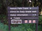 Nelson_Falls_001_jx_11282006 - Trailhead signage for the Nelson Falls Track during our visit in November 2006