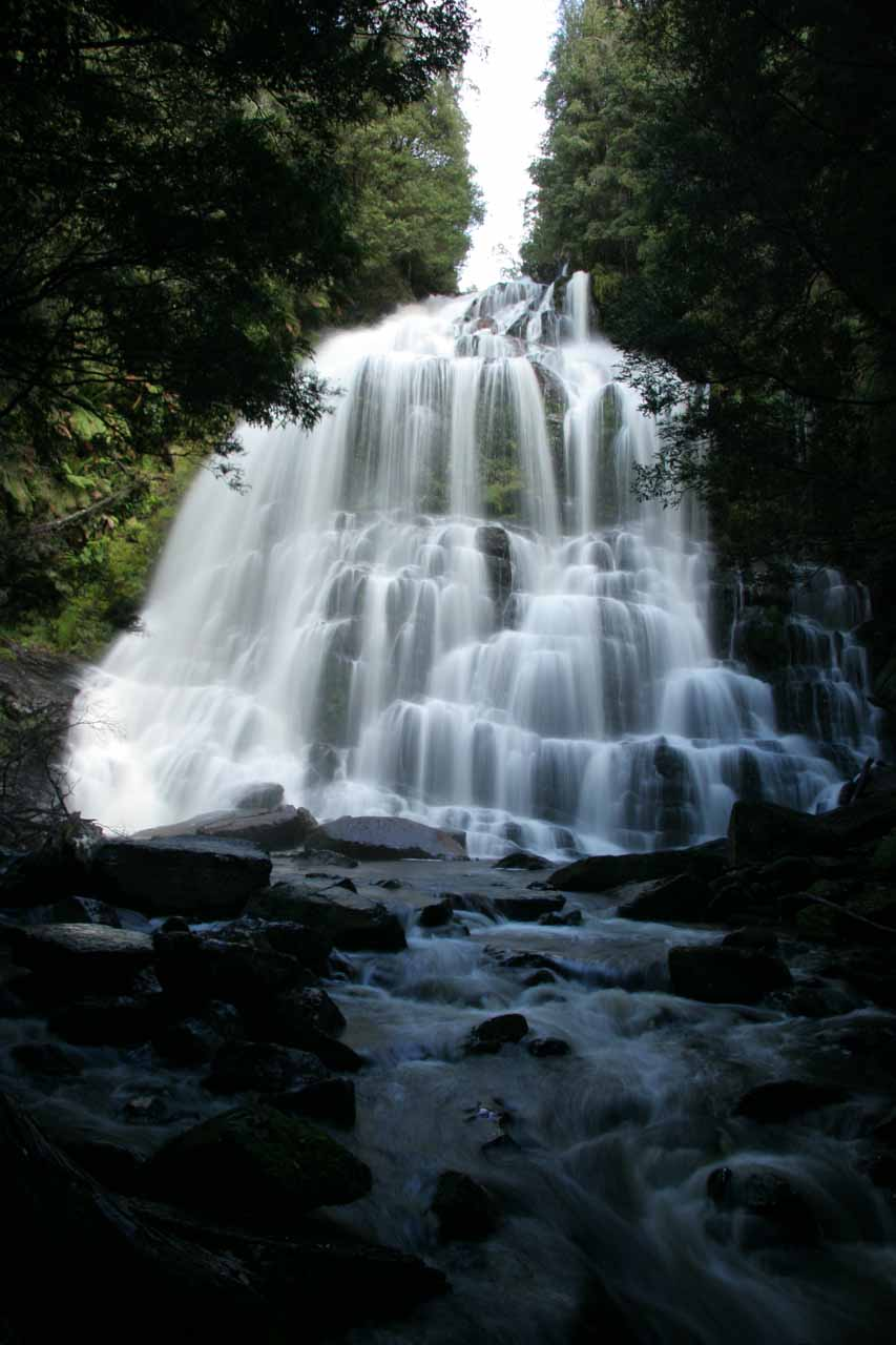 Nelson Falls is about 23km east of Horsetail Falls (or 'Queenstown Falls' before I knew its real name)